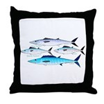4 Atlantic Mackerels Throw Pillow