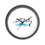 4 Atlantic Mackerels Wall Clock