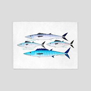 4 Atlantic Mackerels 5'x7'Area Rug