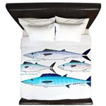 4 Atlantic Mackerels King Duvet