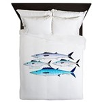 4 Atlantic Mackerels Queen Duvet