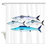 4 Atlantic Mackerels Shower Curtain