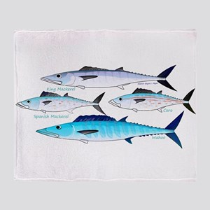 4 Atlantic Mackerels Throw Blanket