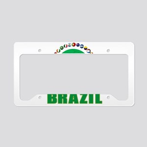 Brazil Soccer 2014 License Plate Holder