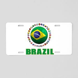 Brazil Soccer 2014 Aluminum License Plate