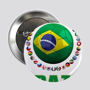 "Brazil Soccer 2014 2.25"" Button"