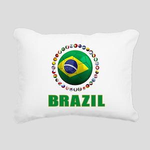 Brazil Soccer 2014 Rectangular Canvas Pillow