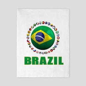 Brazil Soccer 2014 Twin Duvet