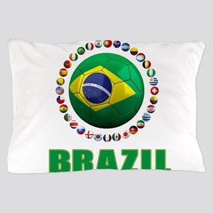 Brazil Soccer 2014 Pillow Case