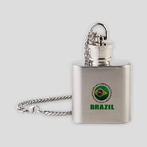Brazil Soccer 2014 Flask Necklace