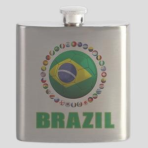 Brazil Soccer 2014 Flask