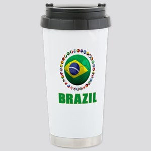 Brazil Soccer 2014 Travel Mug