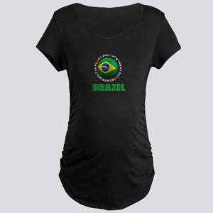 Brazil Soccer 2014 Maternity T-Shirt