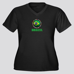 Brazil Soccer 2014 Plus Size T-Shirt