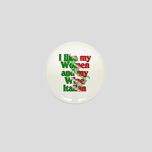 Women and Wine Italian Mini Button