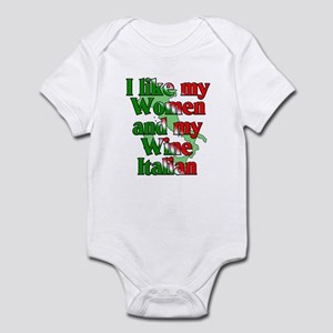 Women and Wine Italian Infant Bodysuit