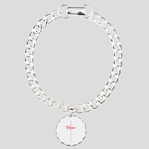 John 3:16 Cross Charm Bracelet, One Charm
