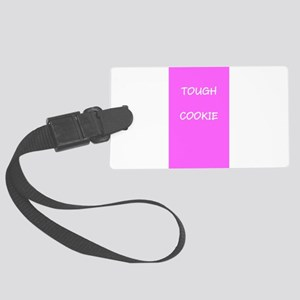 Tough Cookie Pink Cancer 4Leslie Large Luggage Tag
