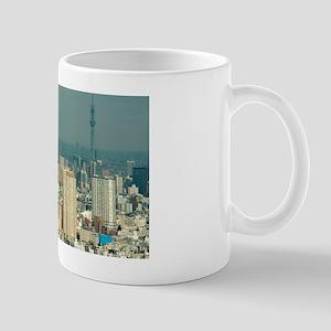 sky tree construction Mug