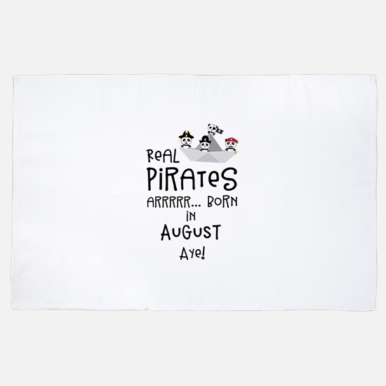 Real Pirates are born in AUGUST 4' x 6' Rug