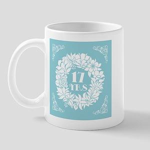 17th Anniversary Wreath Mug