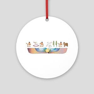 Lagotto Hieroglyphs Ornament (Round)