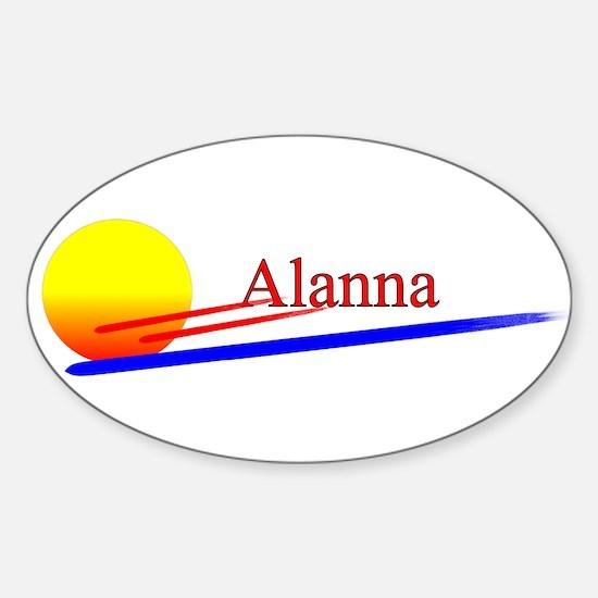 Alanna Oval Decal