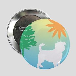 """Affenpinscher, Tree & Sun 2.25"""" Button"""