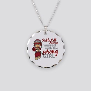 Sickle Cell Anemia CombatGir Necklace Circle Charm