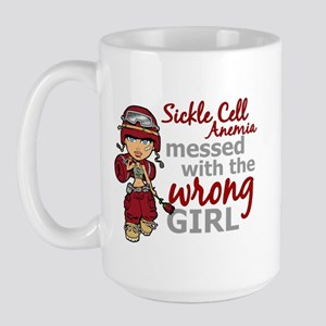 Sickle Cell Anemia CombatGirl1 Large Mug