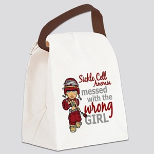 Sickle Cell Anemia CombatGirl1 Canvas Lunch Bag