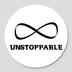 Unstoppable Round Car Magnet