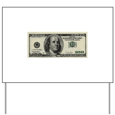 100 dollar bill yard sign by concordcollections