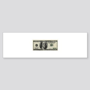 100 Dollar Bill Bumper Sticker