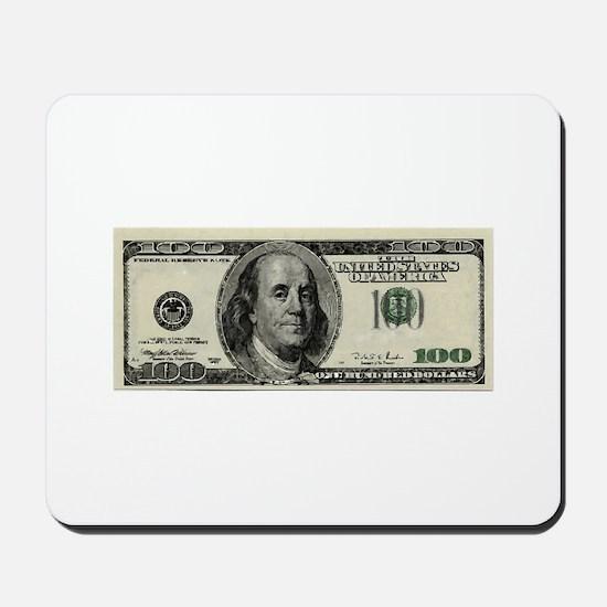 100 Dollar Bill Mousepad