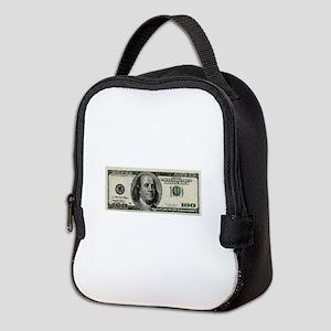 100 Dollar Bill Neoprene Lunch Bag