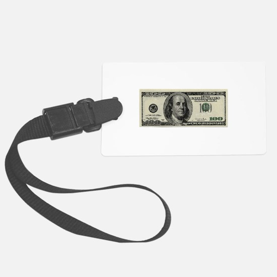 100 Dollar Bill Luggage Tag