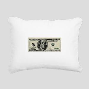 100 Dollar Bill Rectangular Canvas Pillow