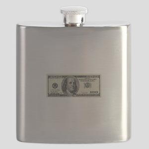 100 Dollar Bill Flask