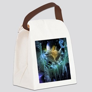 Dolphin in the universe Canvas Lunch Bag