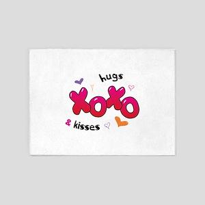 XOXO hugs & kisses 5'x7'Area Rug