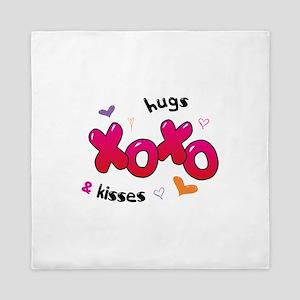 XOXO hugs & kisses Queen Duvet