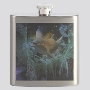 Dolphin in the universe Flask