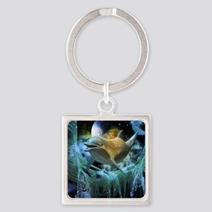 Dolphin in the universe Keychains