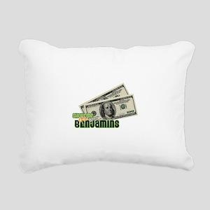 Show Me The Benjamins Rectangular Canvas Pillow