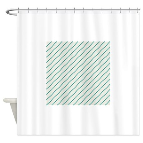 diagonal teal and off white stripes shower curtain by clipartmegamart. Black Bedroom Furniture Sets. Home Design Ideas