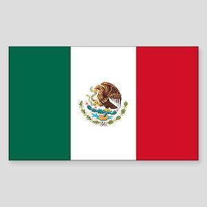Mexico Flag Sticker (Rectangle)