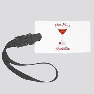 Make Mine a Manhattan Luggage Tag