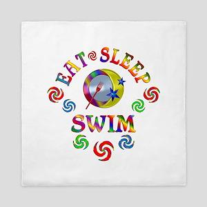 Eat Sleep Swim Queen Duvet