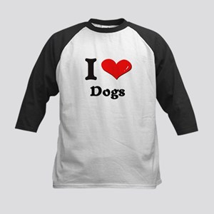 I love dogs Kids Baseball Jersey